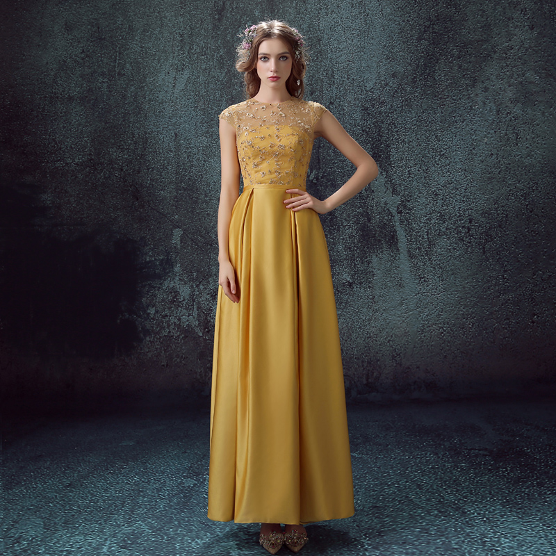 Yellow Lace Wedding Dress